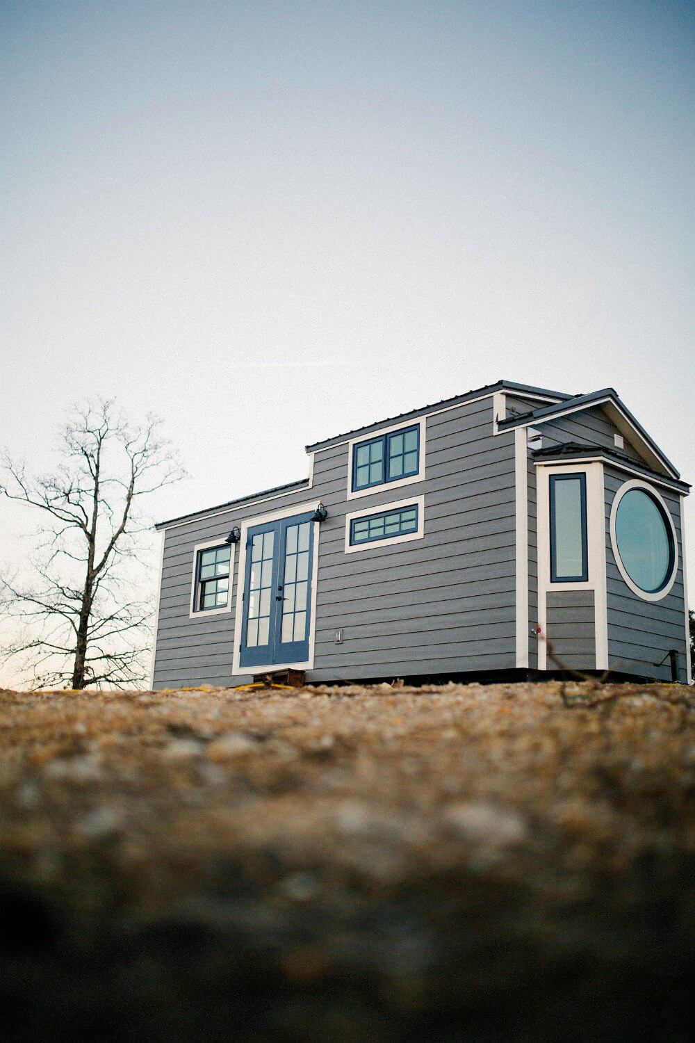 Exterior Shot of the Monacle Tiny House by Wind River