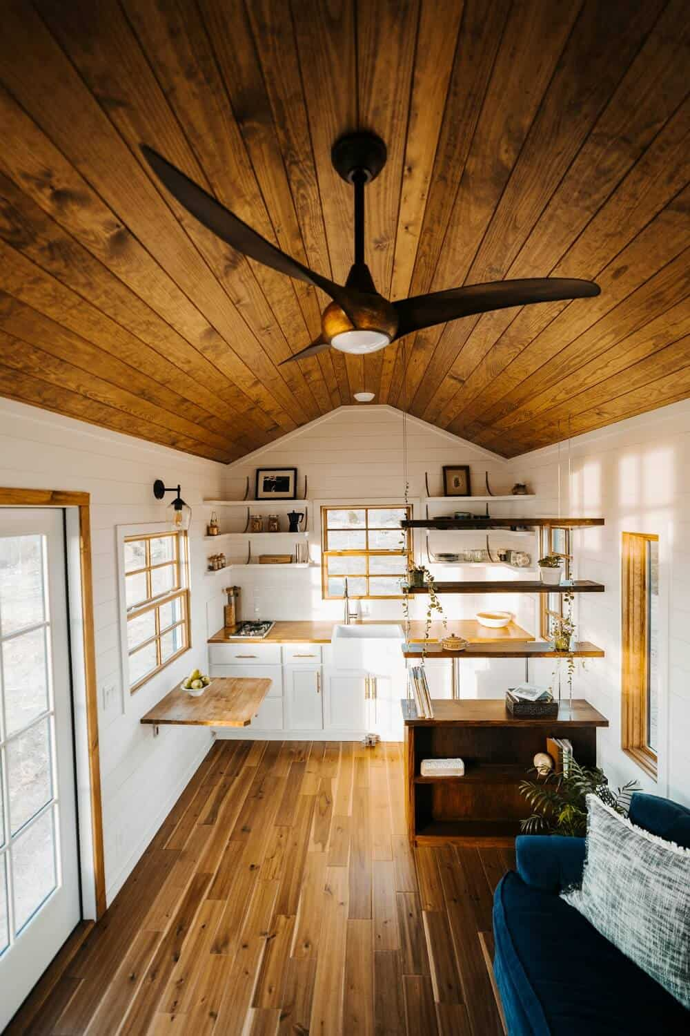 Beautiful Interior of the Monacle Tiny House by Wind River