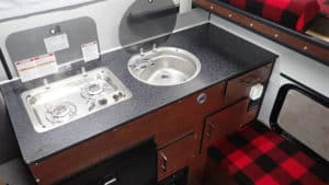 Raven Truck Camper Kitchen area - Four Wheel Campers