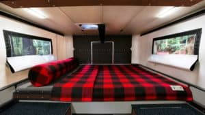 Raven Truck Camper Bed area - by Four Wheel Campers