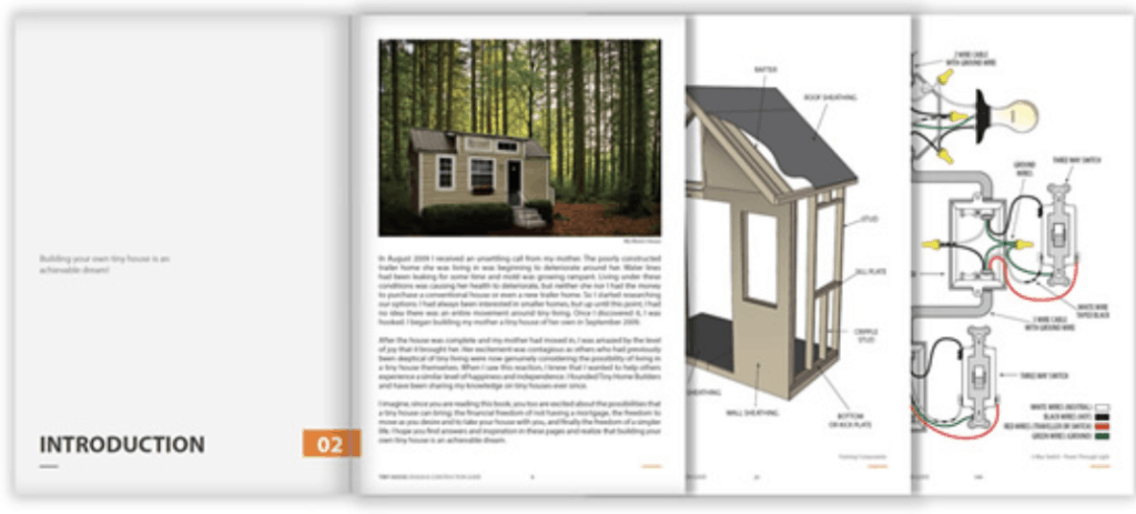 Interior pages of the tiny house builders ebook
