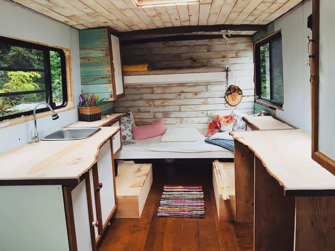 Single Mom Transforms Step Van Into Gorgeous Rv The Wayward Home