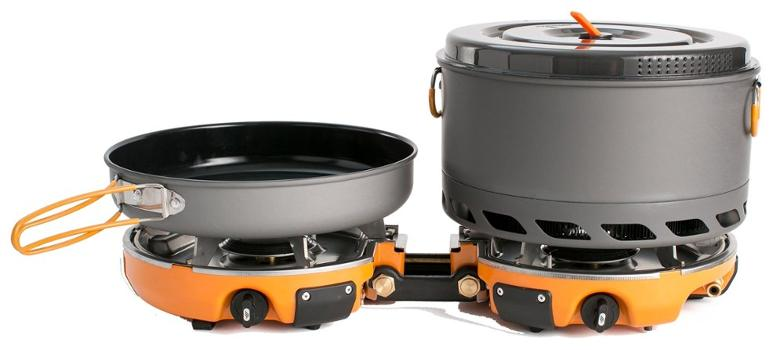 The JetBoil Base Camping Stove is expensive but rugged with great simmer control