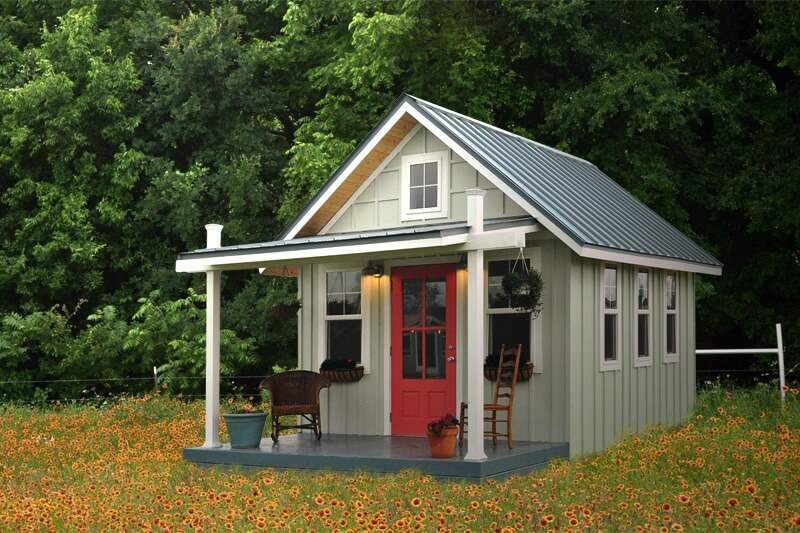 The Kanga Cottage Kwik Shed conversion tiny house is an affordable and well-constructed tiny house shed