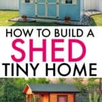 HOW TO BUILD A SHED TINY HOUSE