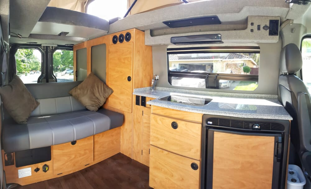 4x4 Sprinter van interior
