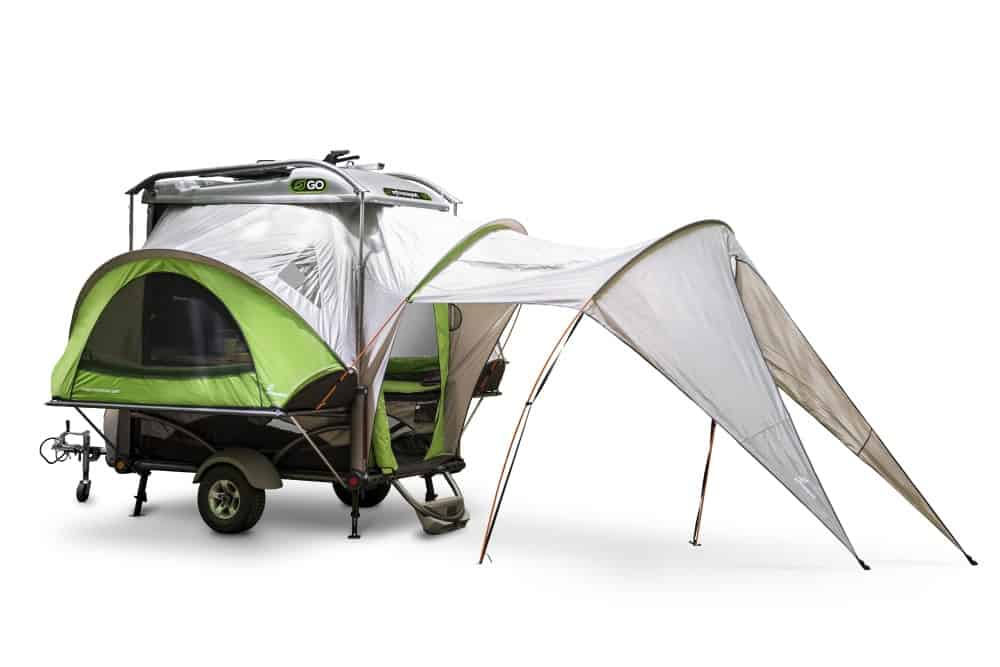 The Go Tent Camper is a small and rugged pop up camper