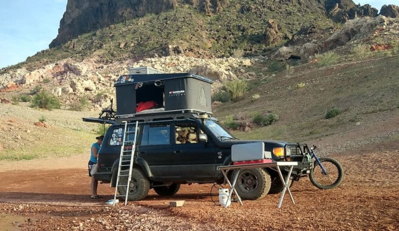 Couple spends two years in rooftop tent