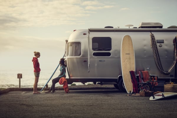 Airstream camper with Dometic air conditioner
