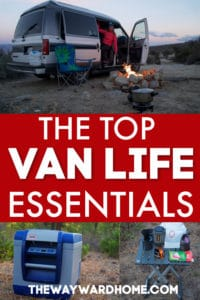 van life essentials for living in a van full time