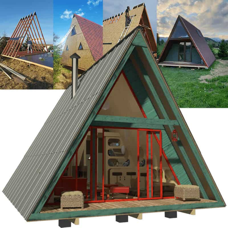 A Frame DIY Tiny House by Pinup Houses