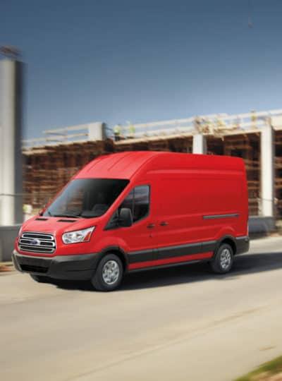 2018 Ford Transit 250 HR LWB Cargo Van exterior, Race Red
