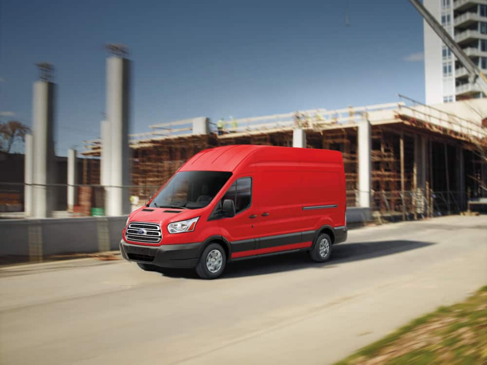 2018 Ford Transit 250 HR LWB Cargo Van exterior, Race Red