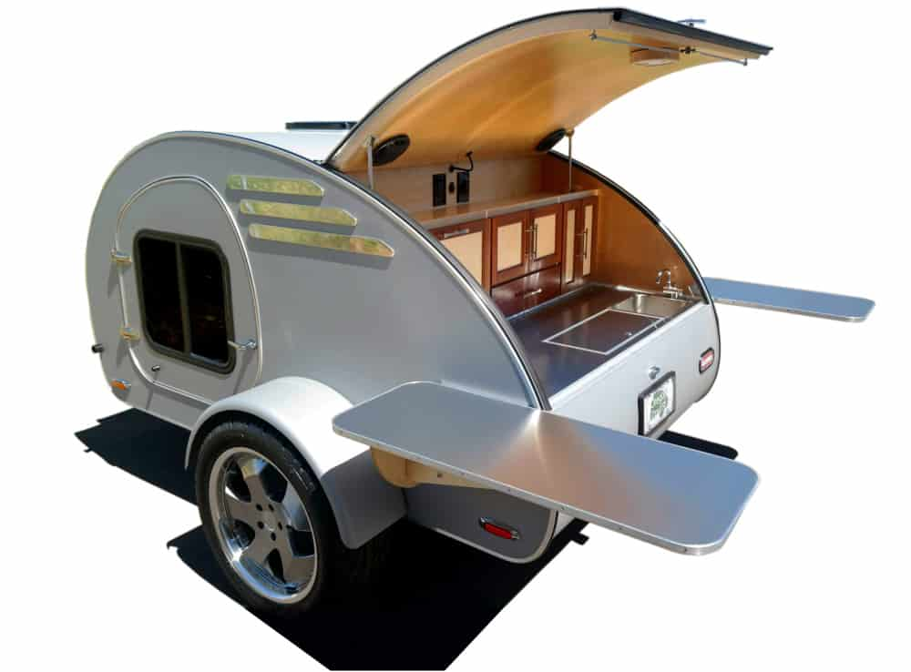The FrontTear classic teardrop trailer