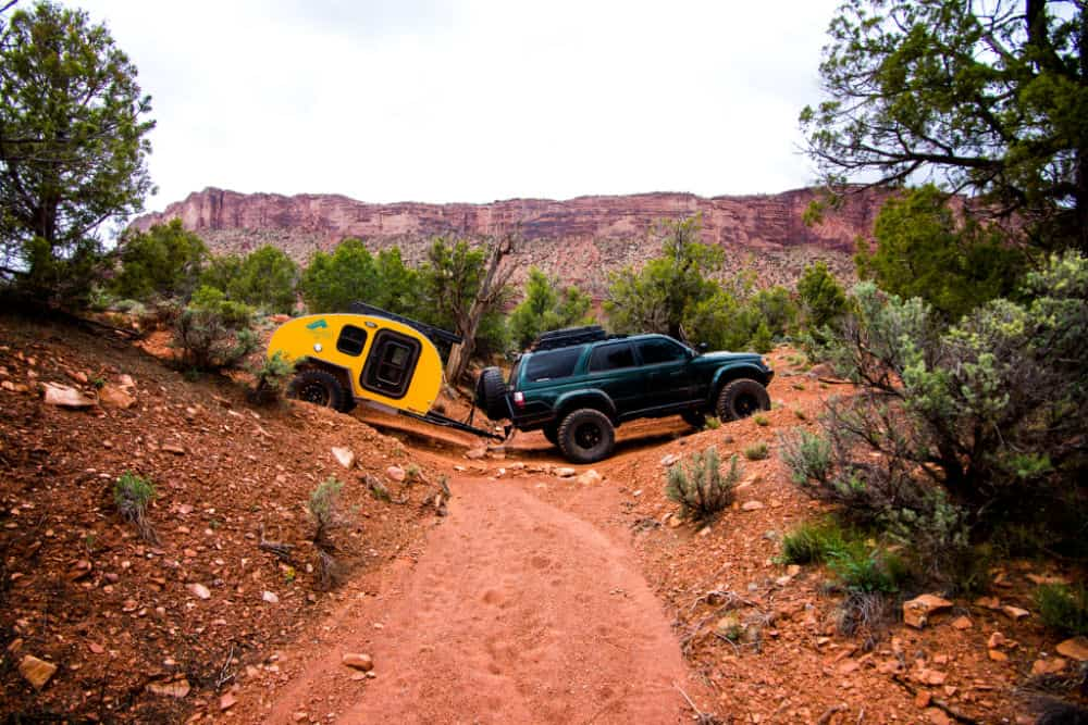 Pika Teardrop Camper off roading