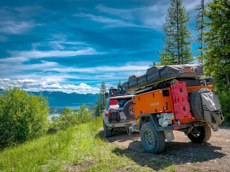 Turtleback Expedition off-roading in the mountains