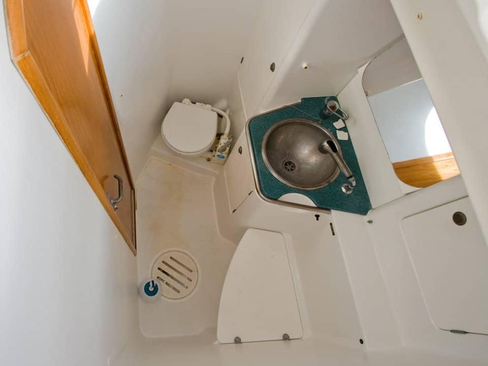 a small marine bathroom