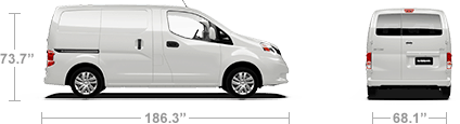 Nissan NV200 camper length and width