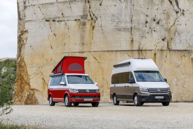 These two VW camper vans are for sale in Europe