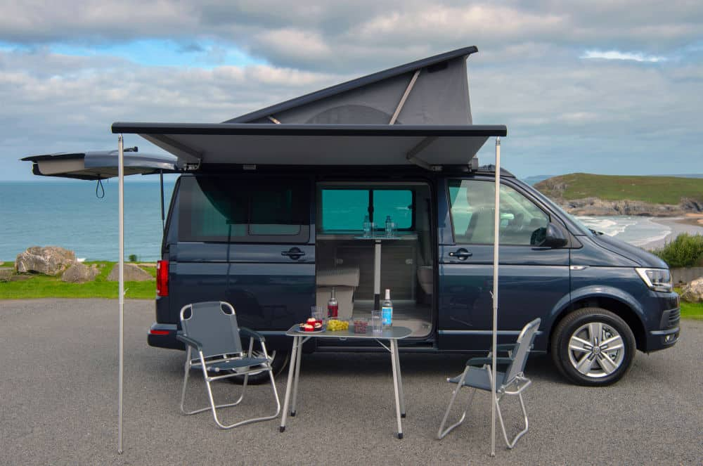VW California Campervan with the pop top up