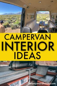 Campervan interior ideas for your build