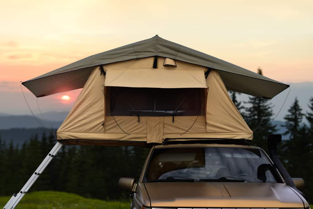 SUV rooftop tent