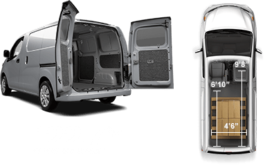 Interior cargo space of the Nissan NV200