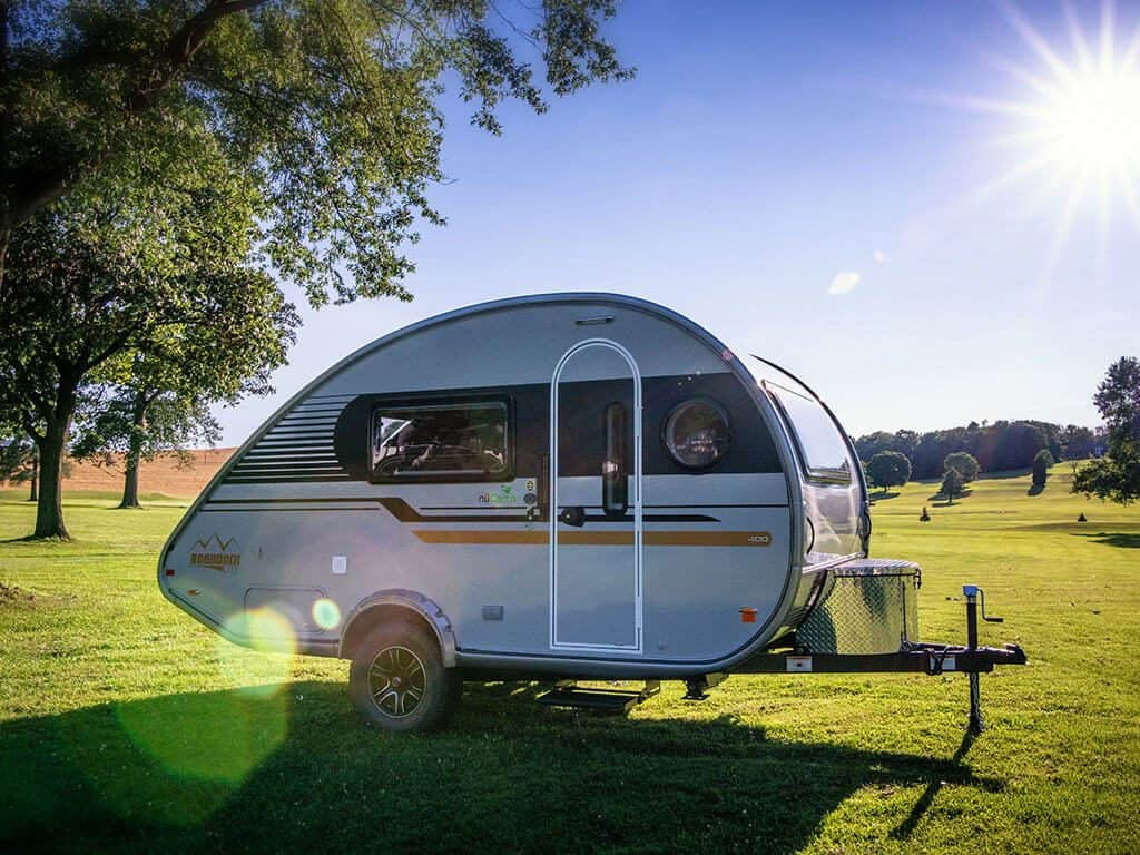 TAB400 small travel trailer with a bathroom