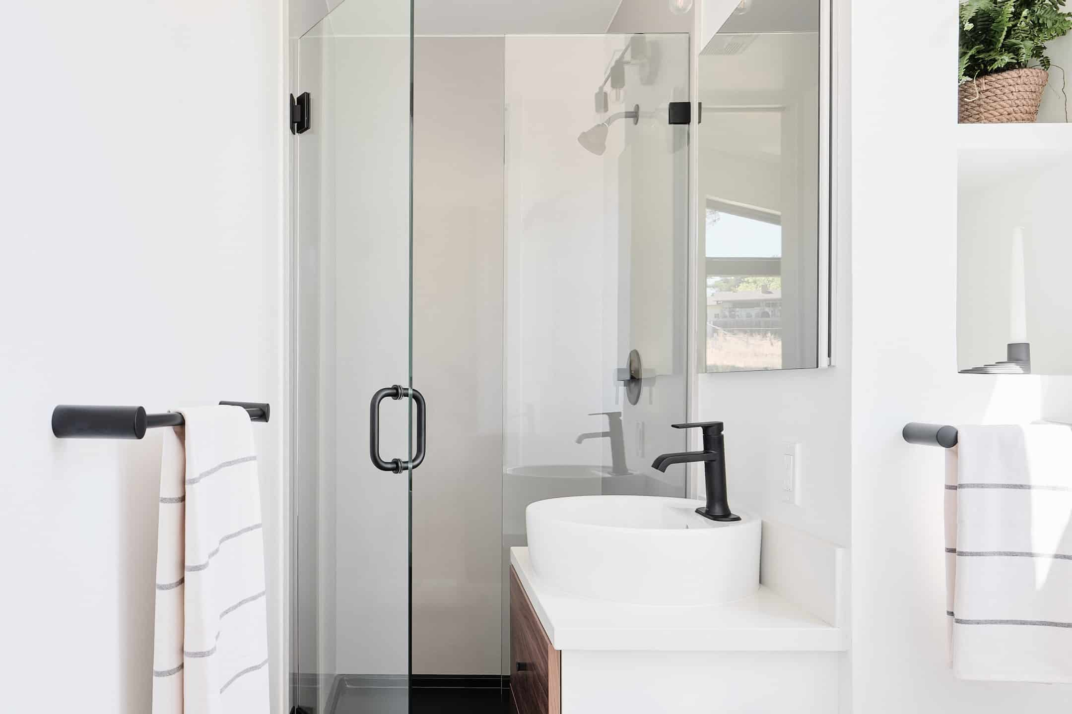 Prefab tiny home bathroom by Abodu