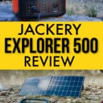 The Jackery Explorer 500 is a great portable power station for camping