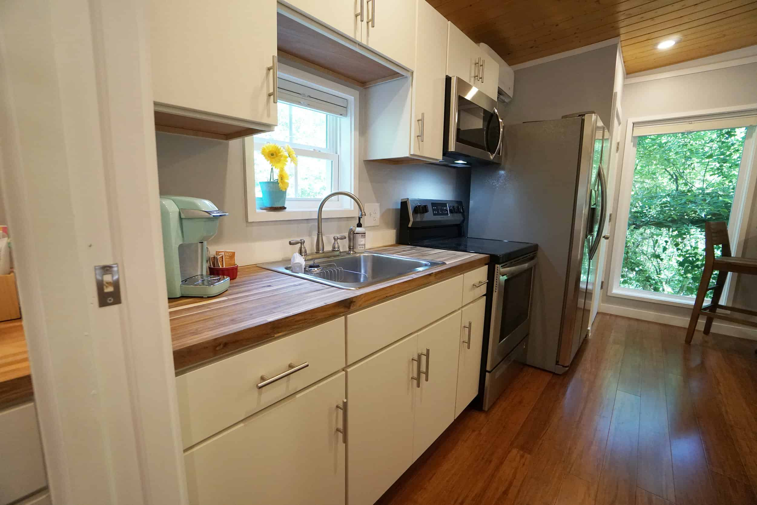 Beautiful prefab tiny home kitchen by Kanga Room Systems