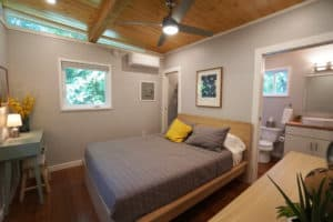 Modern prefab tiny house bedroom by Kanga Room Systems