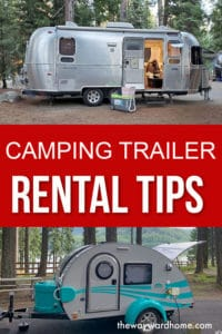 Camping trailer rental tips