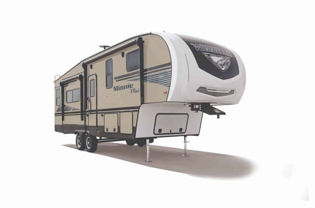 Minnie Plus is one of many small 5th wheel trailers for sale