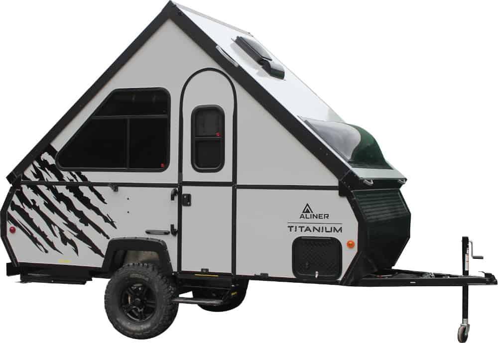 The Aliner Titanium A-frame camper