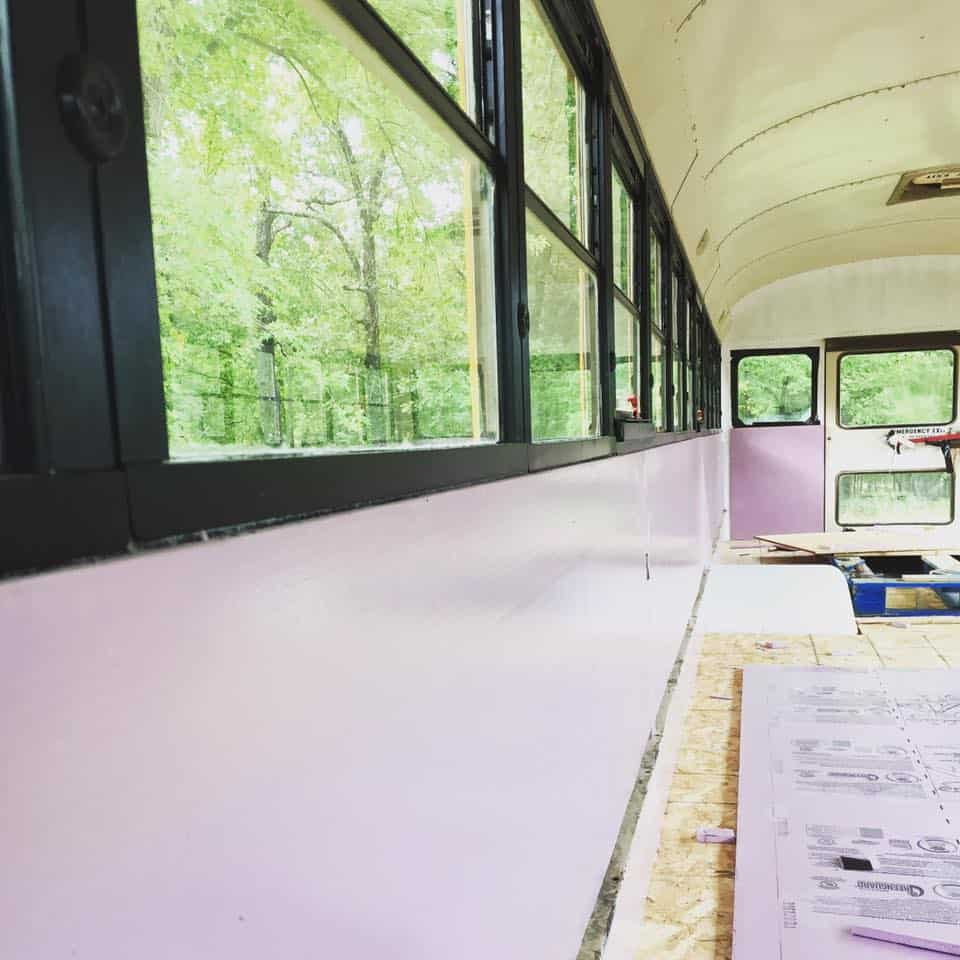 school bus camper interior and insulation