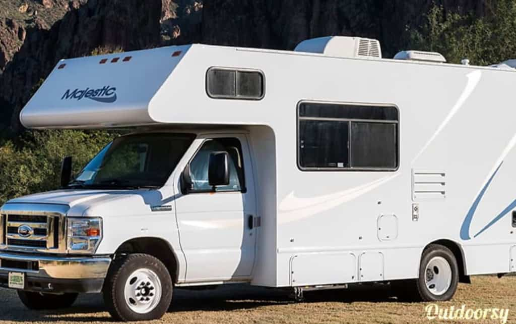 This Thor Class C RV is available for rent.
