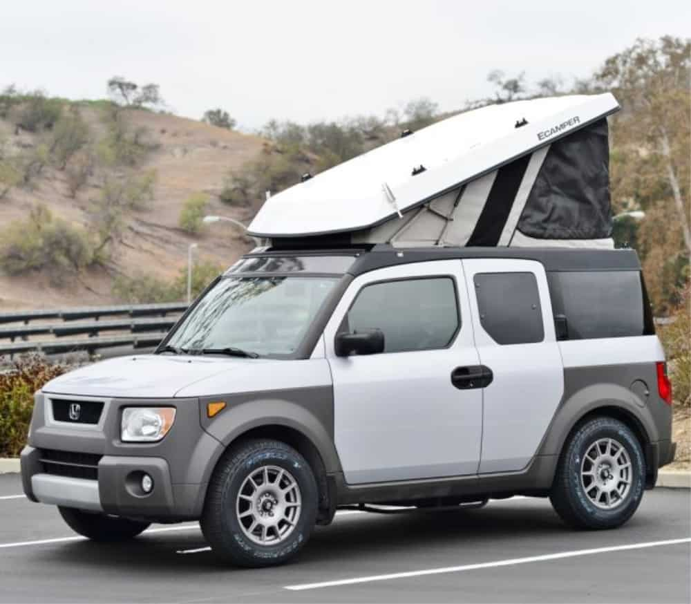 This Ursa Minor ECamper Conversion kit is perfect for your Honda Element camper.