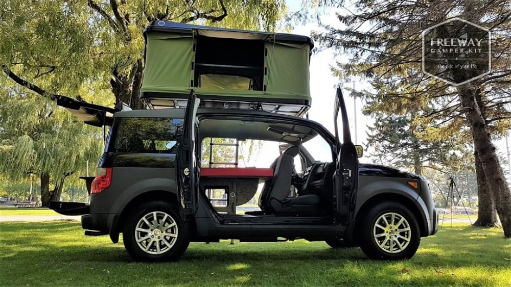 The Freeway Element Camper kit allows you to easily have a Honda Element Camper conversion