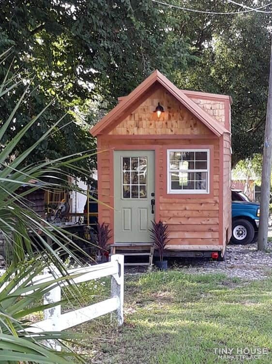 Front of Tiny Home, wide enough for a door and window