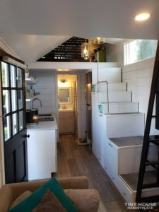 Main living area in Tiny house
