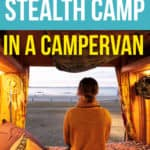 stealth camping in a campervan