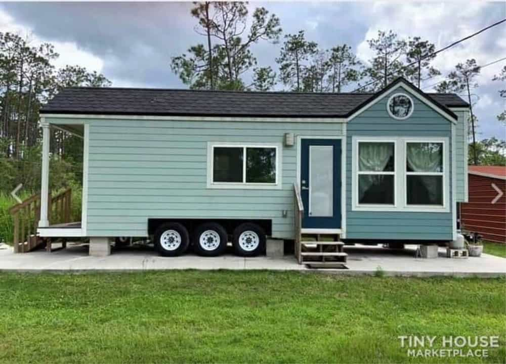 Tiny Home with wheels and a back porch
