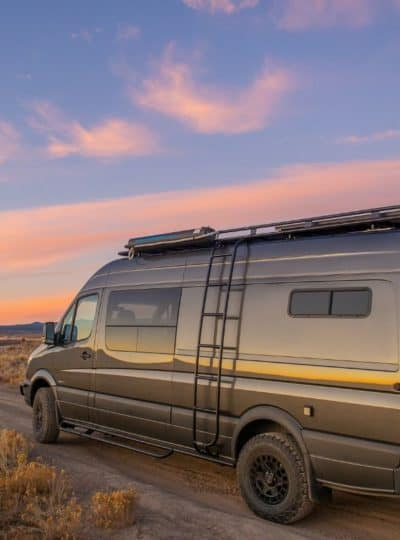Esplori customized small Class B motorhome drives into the sunset