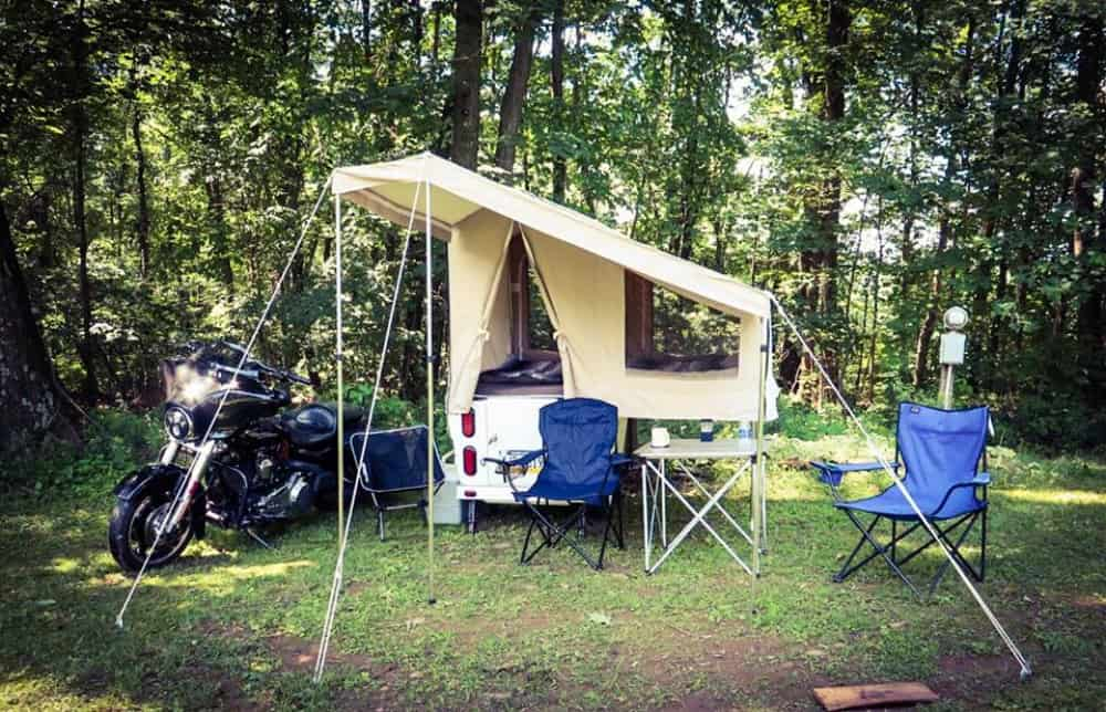 Motorcycle pull behind camper Mini Mate Campsite
