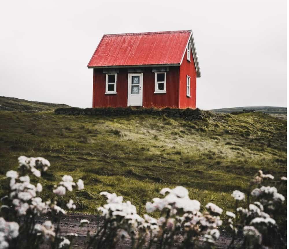 Tiny house on vast hilly land