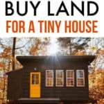 Buy Land for a tiny house
