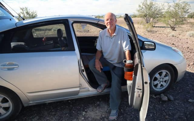 This man lives on $800 per month in a Prius