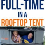 couple travels fulltime in a rooftop tent