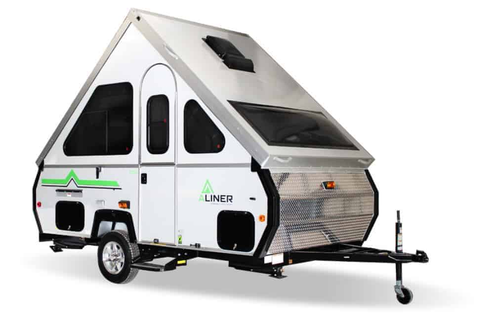 Aliner hard sided pop up camper.